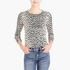 J. Crew Teddie sweater savannah print